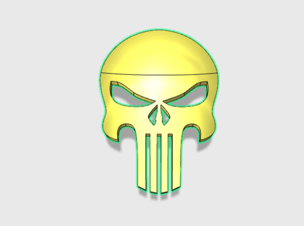 60x AngrySkull : Shoulder Insignia pack in Smooth Fine Detail Plastic