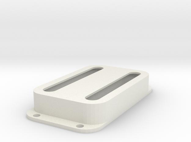 Strat PU Cover, Double Wide, Open in White Premium Versatile Plastic