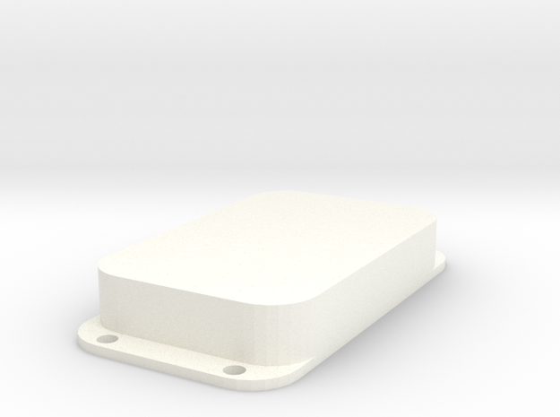 Strat PU Cover, Double Wide, Closed in White Processed Versatile Plastic