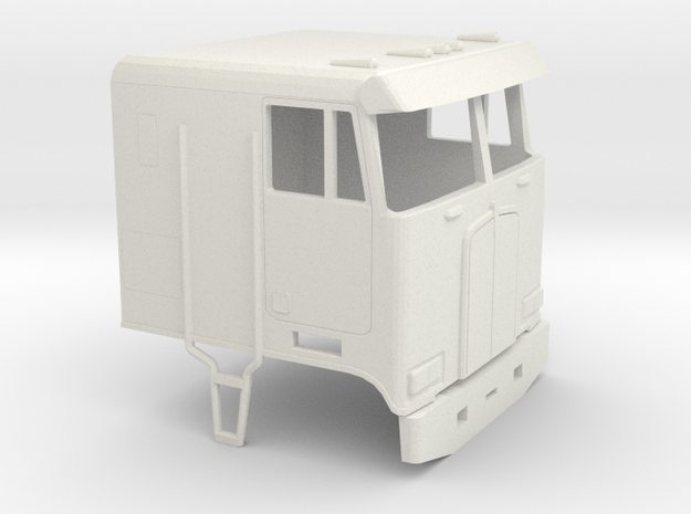 1/32 Kenworth  Cabover Cab in White Strong & Flexible
