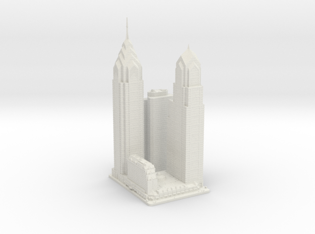 Liberty Place (1:1800) in White Natural Versatile Plastic