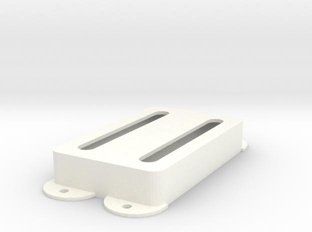 Jag PU Cover, Pickguard, Double, Open in White Processed Versatile Plastic
