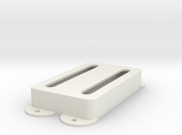 Jag PU Cover, Pickguard, Double, Open in White Premium Versatile Plastic