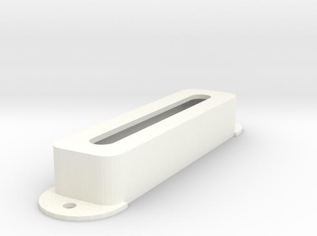 Jag PU Cover, Pickguard, Open in White Processed Versatile Plastic