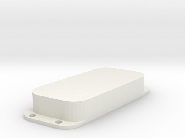 Strat PU Cover, Double, Angled, Closed in White Premium Versatile Plastic