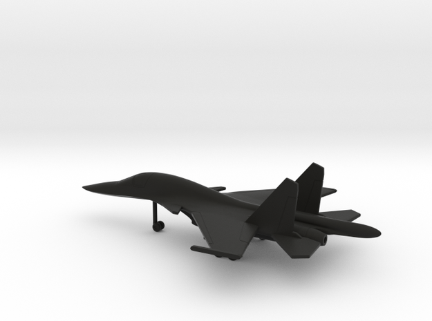 Sukhoi Su-34 Fullback in Black Natural Versatile Plastic: 6mm