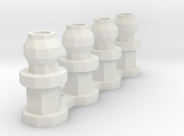 losi jrx2 shock mount in White Natural Versatile Plastic