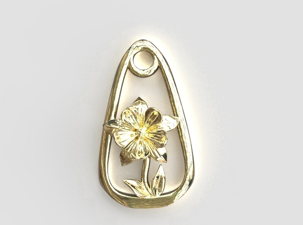 Columbine Resolved To Win Pendant in Polished Brass