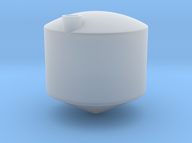 1/64 7500 Gal cone bottom tank in Smooth Fine Detail Plastic