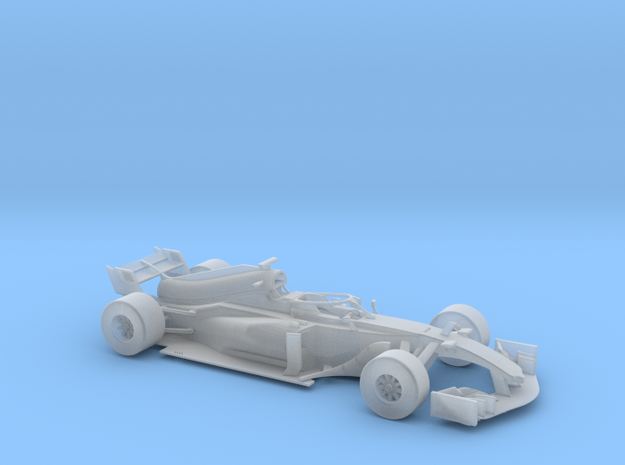 F1 2018 car 1/68 in Smooth Fine Detail Plastic
