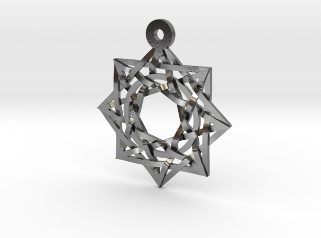"""8:8 Stargate Pendant 1"""" in Polished Silver"""