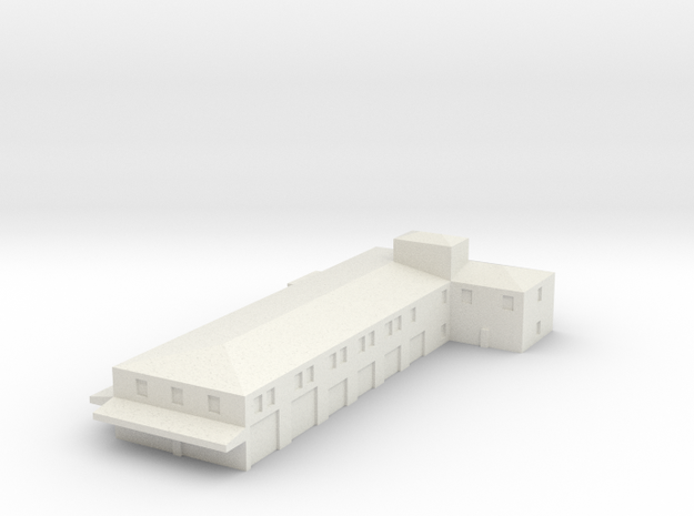 Airport Fire Station in White Natural Versatile Plastic: 1:400