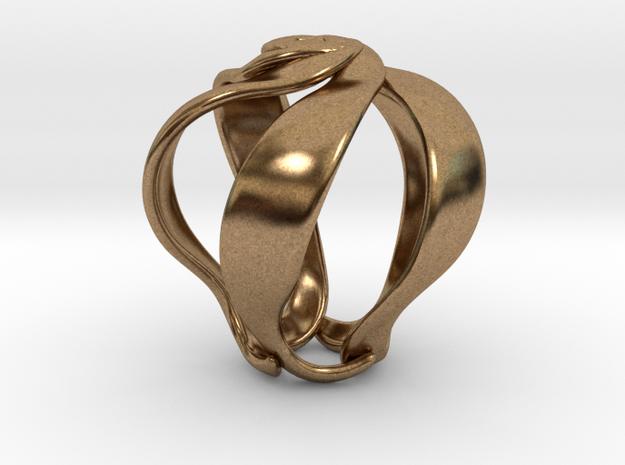 Bellflower pendant necklace in Natural Brass