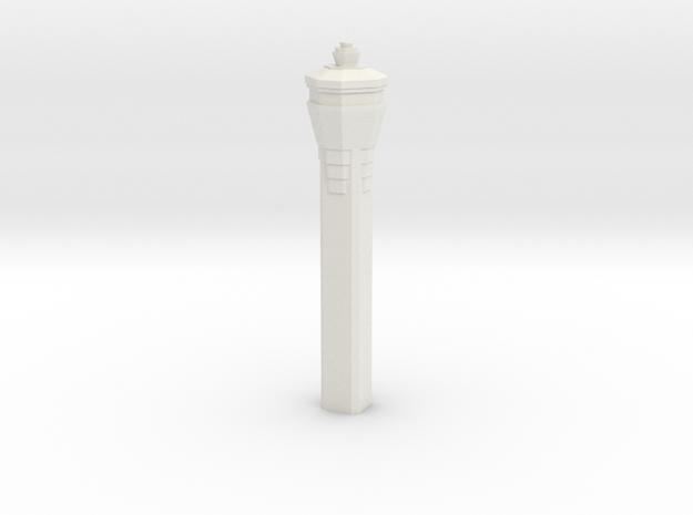 Miami International Airport Tower in White Natural Versatile Plastic: 1:400