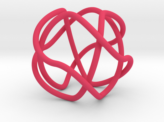 2-Fold Cover of the 2-Butterfly Trefoil in Pink Processed Versatile Plastic