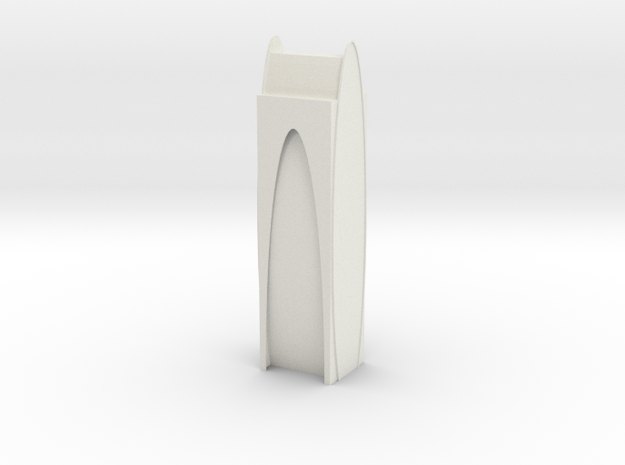 Tower_A in White Natural Versatile Plastic