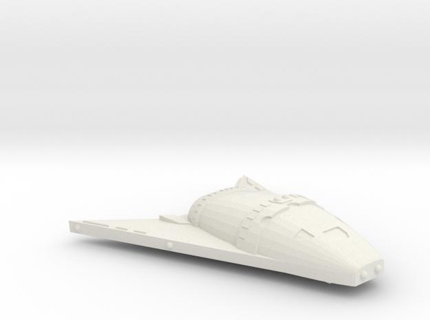 3125 Scale Hydran Buffalo Hunter War Destroyer CVN in White Natural Versatile Plastic