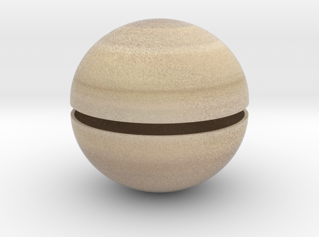 Saturn (Bifurcated) 1:1 billion in Full Color Sandstone