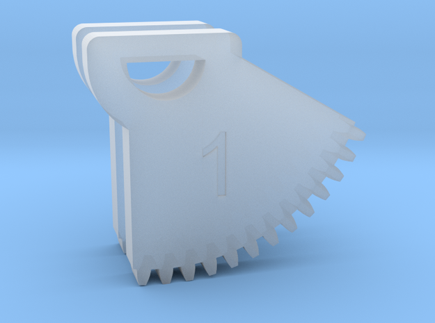 N64 Gear Teeth V1 in Smoothest Fine Detail Plastic