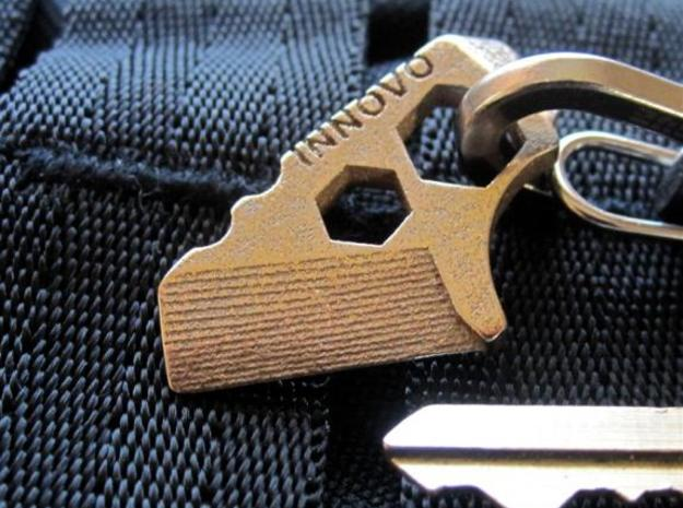 ''ShapeTool Pico'' Keychain Multitool in Stainless Steel