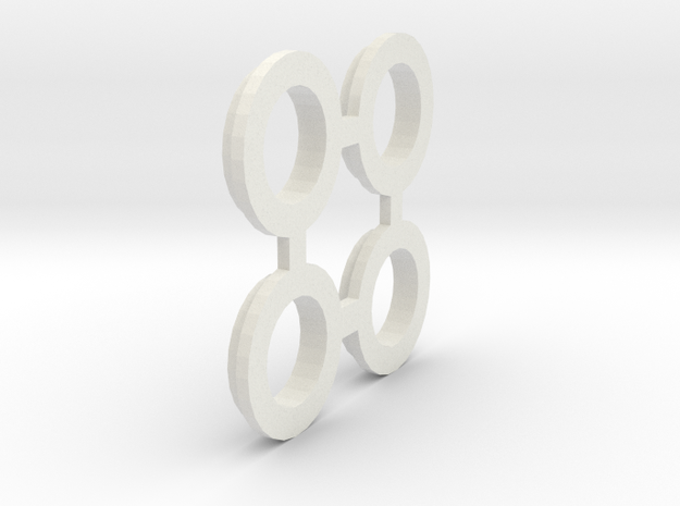losi jrx2 outdrive spacer in White Natural Versatile Plastic