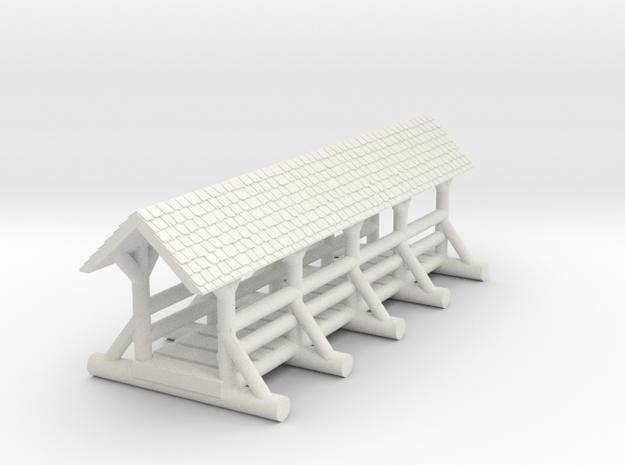 small foot bridge    roof long
