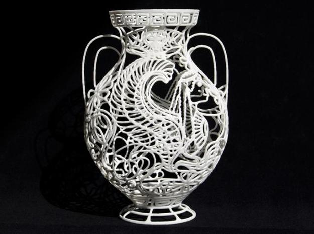 """Chimaera"" - Greek Vase Painting  3d printed"