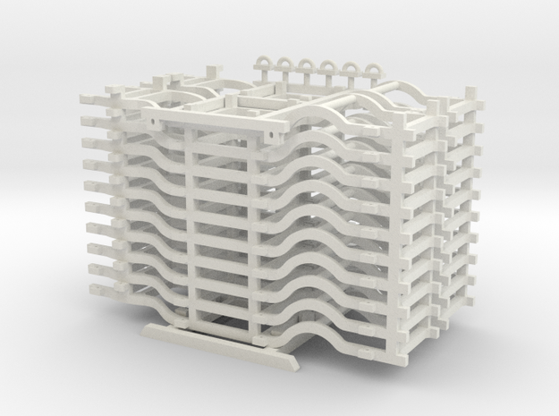 HO 1/87 Automobile Chassis stack for Flatcar or Au in White Natural Versatile Plastic