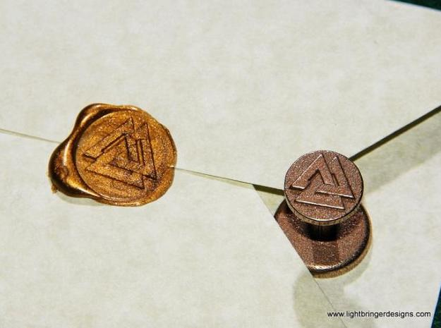 Valknut Wax Seal in Stainless Steel