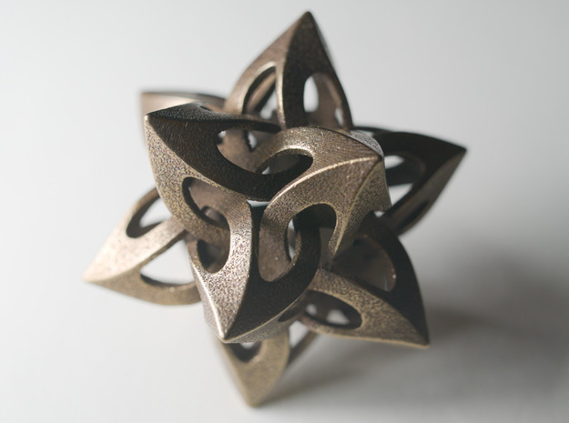 Dodecarachnederon in Polished Bronze Steel