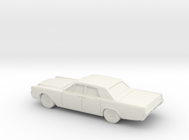 1/76 1966-68  Lincoln Continental Sedan in White Natural Versatile Plastic