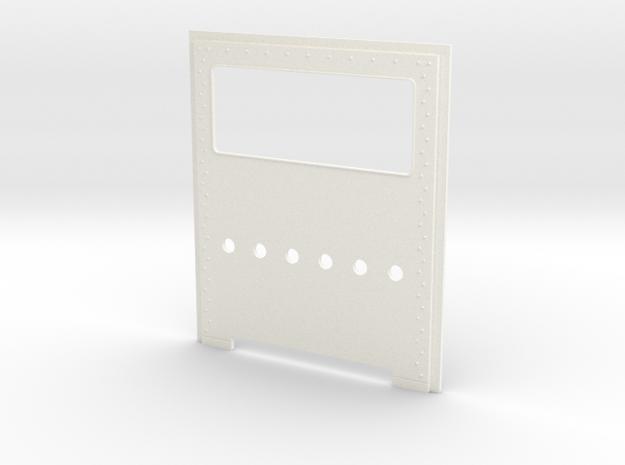 King Hauler Daycab Panel,  6 Lights Lower Cab in White Processed Versatile Plastic