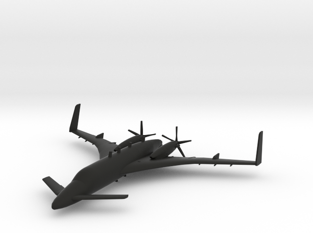 Beechcraft Starship in Black Natural Versatile Plastic: 1:96