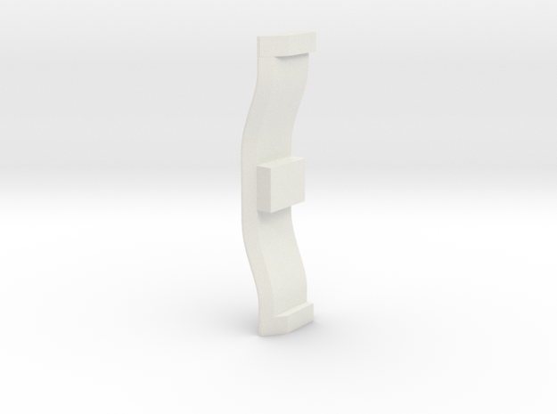 Windshield washer pump retaining clip in White Natural Versatile Plastic