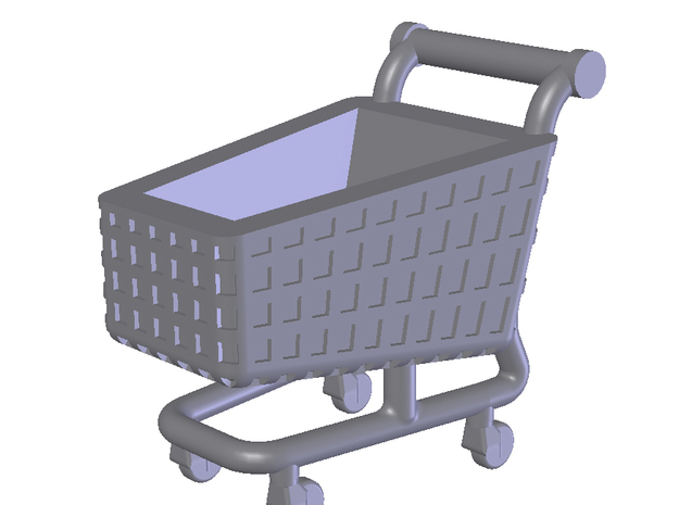 N SCALE SHOPPING TROLLEY (x60) in Smooth Fine Detail Plastic