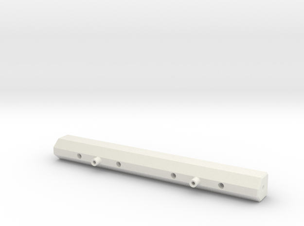 Losi Baja Rock Rey Rear Light Bar in White Natural Versatile Plastic: 1:10