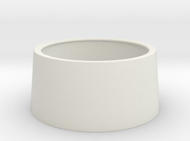 Blucon / Nightrider Ring to build your own silicon in White Natural Versatile Plastic