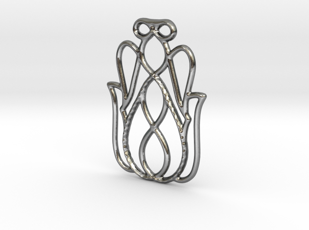 Safeguard Pendant in Polished Silver