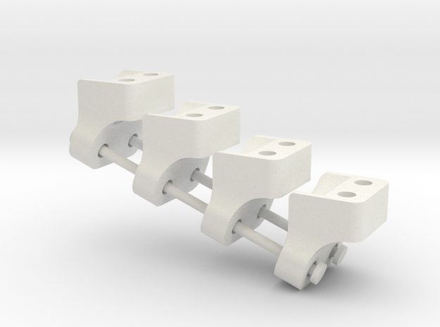 Wraith AR60 Lower link mount  X4 in White Natural Versatile Plastic
