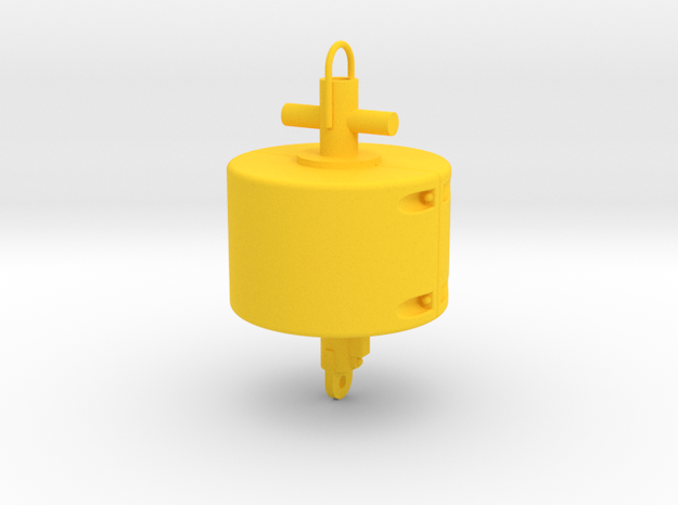 Mooring Buoy 24mm model 1 in Yellow Processed Versatile Plastic