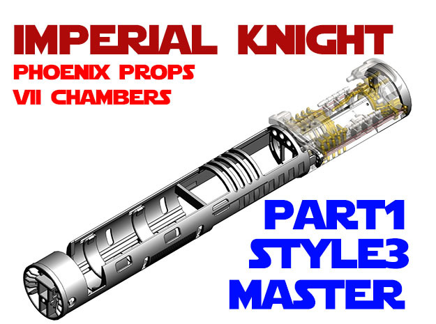 Imperial Knight - Master Part1 Style3 in White Natural Versatile Plastic