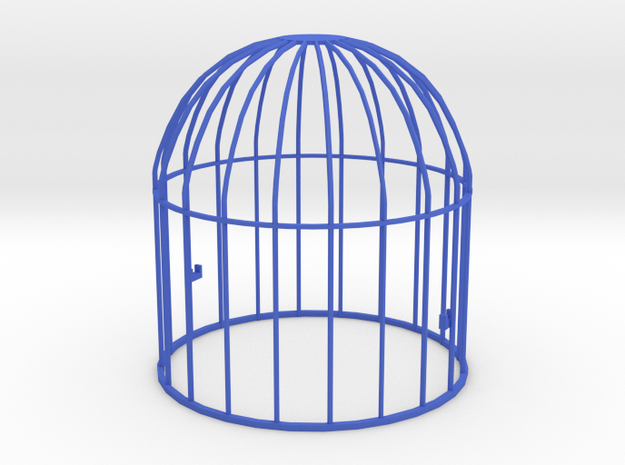 Upper part of a cage for the toy birds in Blue Processed Versatile Plastic