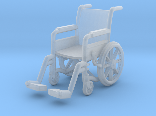 Wheelchair 01. 1:72 Scale in Smooth Fine Detail Plastic