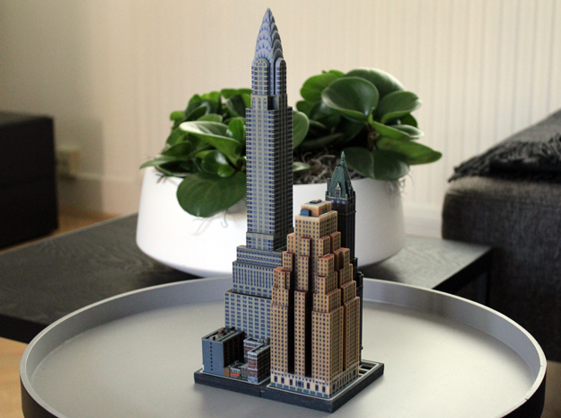 Chrysler building 5x4 in Full Color Sandstone
