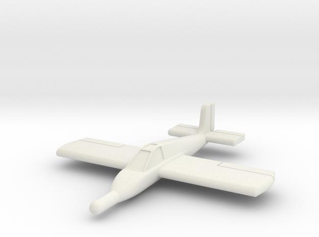 (1:144) Zeppelin Rammer in White Natural Versatile Plastic