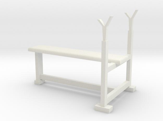 Bench press pen holder in White Natural Versatile Plastic