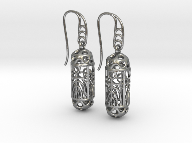 FitzLogo Filigree Earrings in Natural Silver (Interlocking Parts)