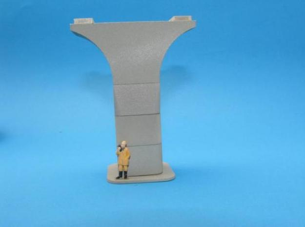 HO/1:87 Precast concrete bridge column set (wide) 3d printed Painted (Figure not included)