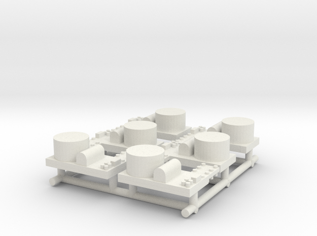 Small Naval Base x6 in White Natural Versatile Plastic