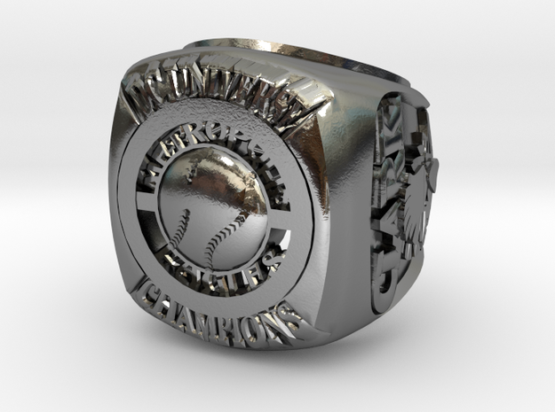 LARGE METROPOLIS clark kent in Polished Silver: 10 / 61.5